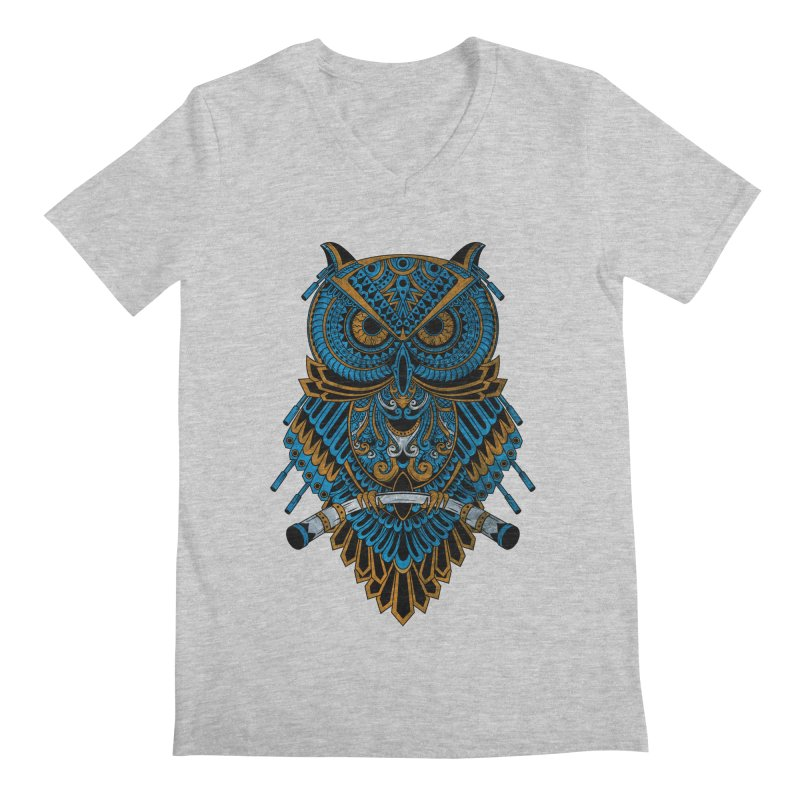 Machinery Owl Men's Regular V-Neck by MHYdesign