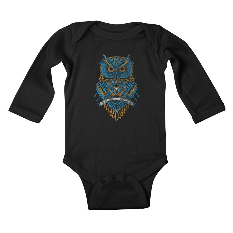 Machinery Owl Kids Baby Longsleeve Bodysuit by MHYdesign