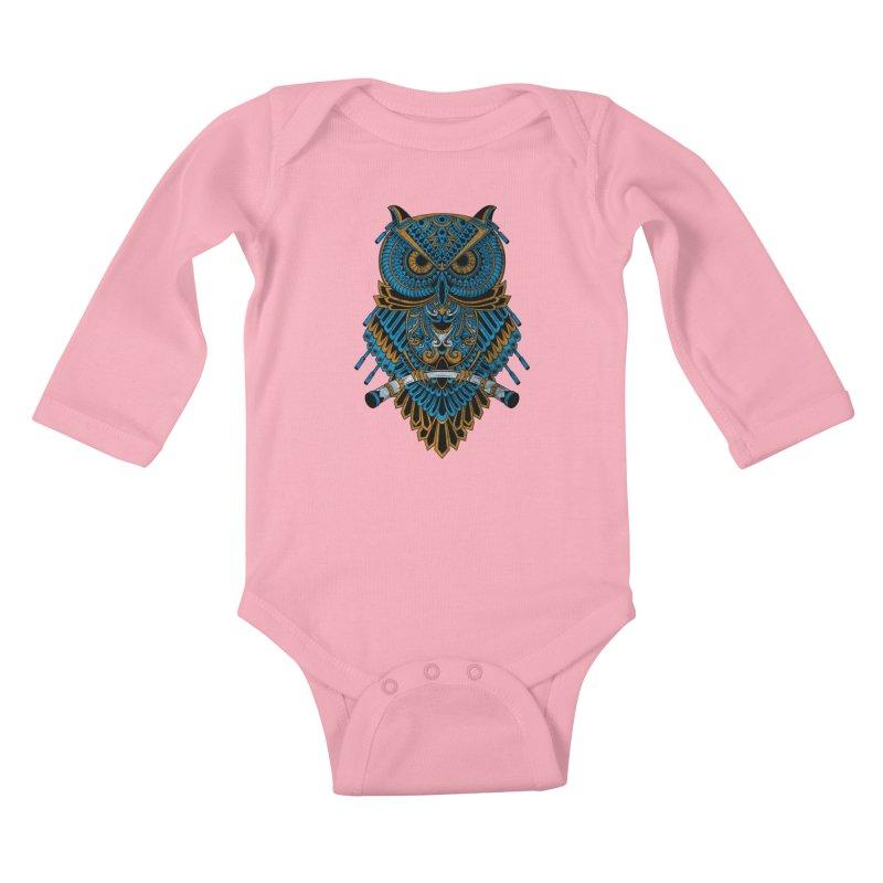 Machinery Owl Kids Baby Longsleeve Bodysuit by MHYdesign