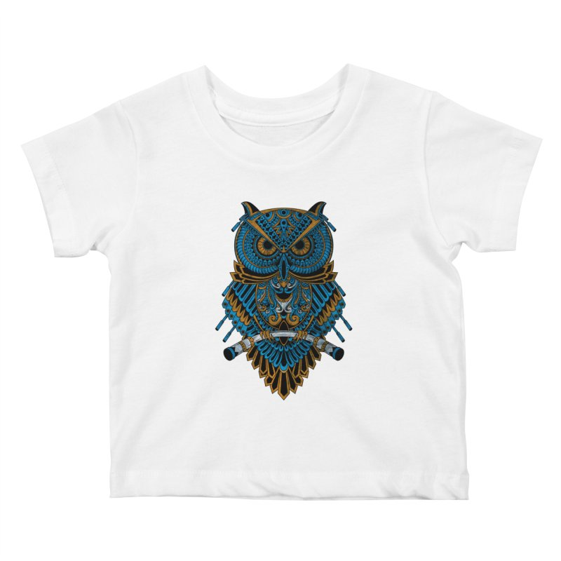 Machinery Owl Kids Baby T-Shirt by MHYdesign