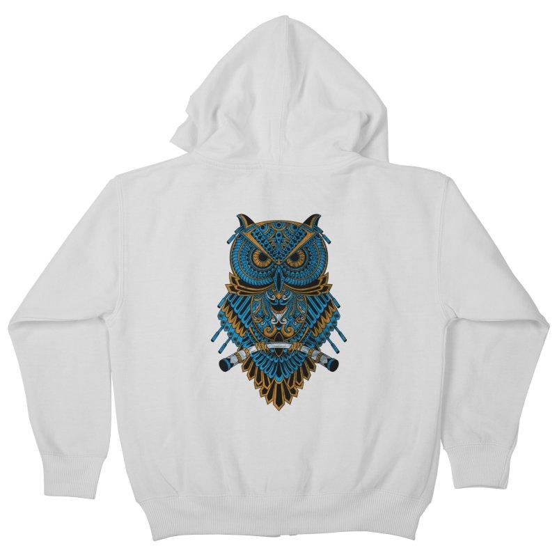 Machinery Owl Kids Zip-Up Hoody by MHYdesign