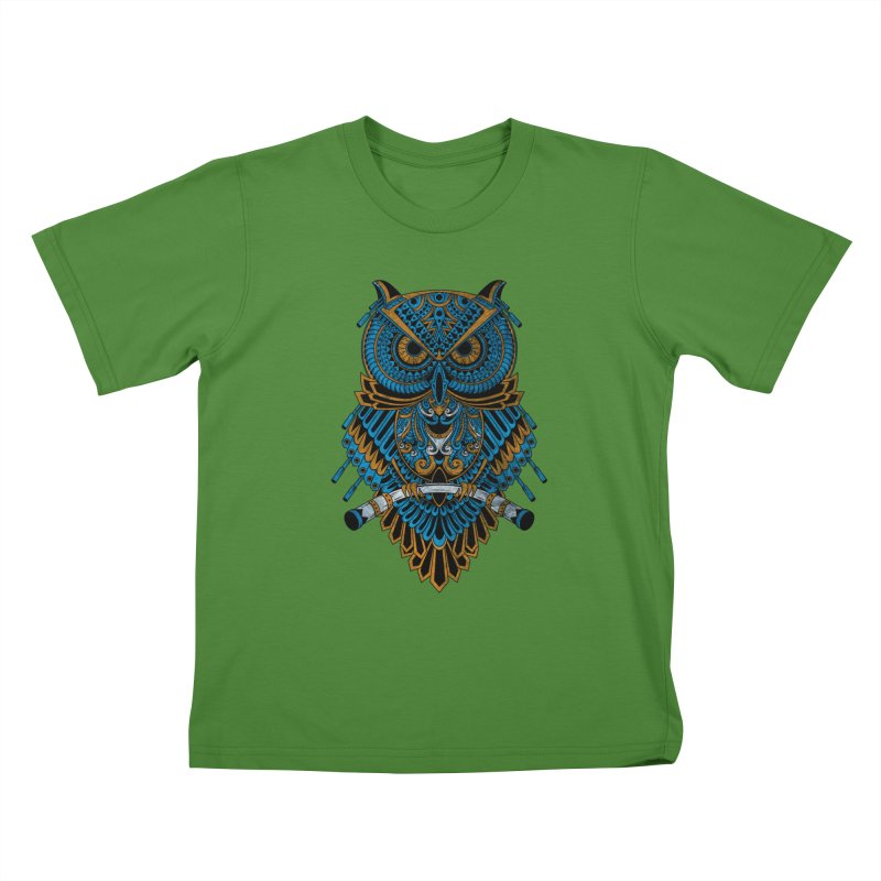 Machinery Owl Kids T-Shirt by MHYdesign