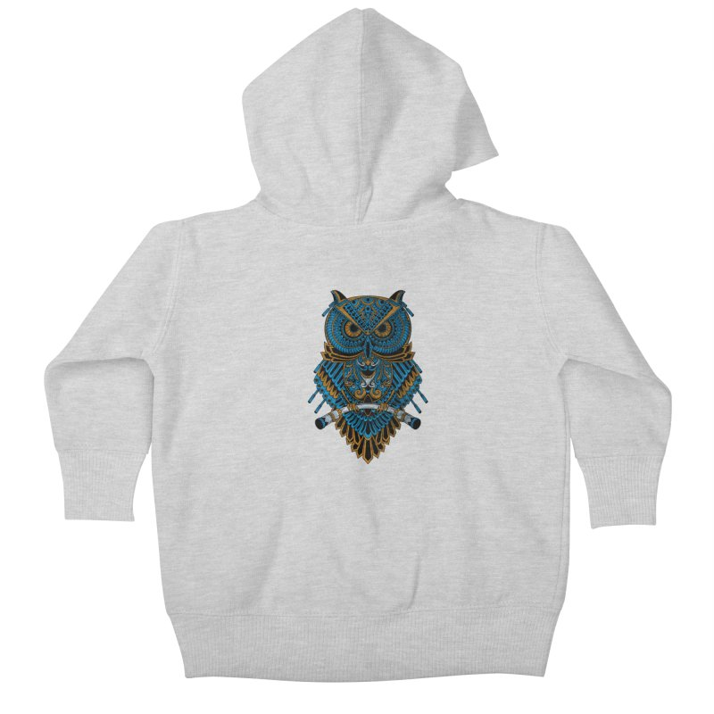 Machinery Owl Kids Baby Zip-Up Hoody by MHYdesign