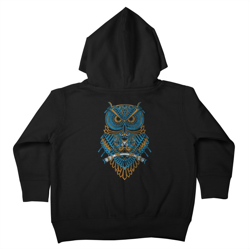Machinery Owl Kids Toddler Zip-Up Hoody by MHYdesign