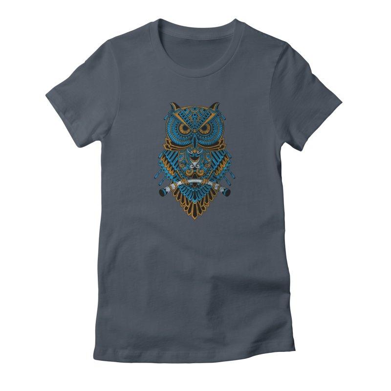 Machinery Owl Women's T-Shirt by MHYdesign