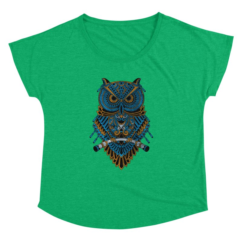 Machinery Owl Women's Dolman Scoop Neck by MHYdesign