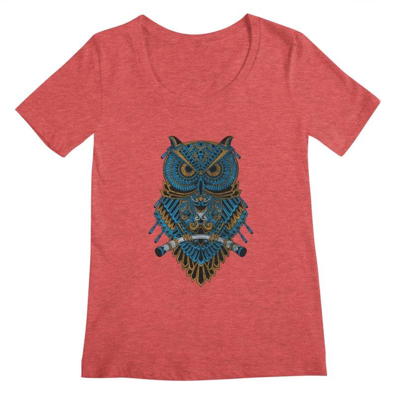 Machinery Owl Women's Regular Scoop Neck by MHYdesign