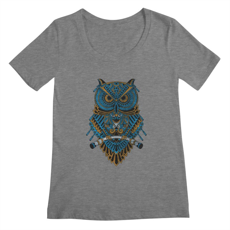 Machinery Owl Women's Scoopneck by MHYdesign