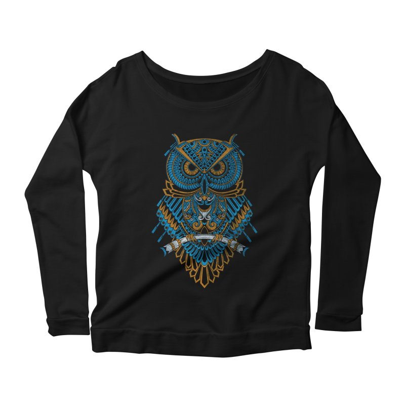 Machinery Owl Women's Longsleeve Scoopneck  by MHYdesign