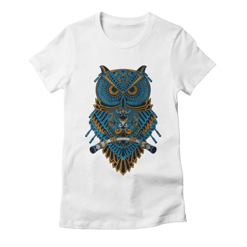 Machinery Owl Women's Fitted T-Shirt by MHYdesign