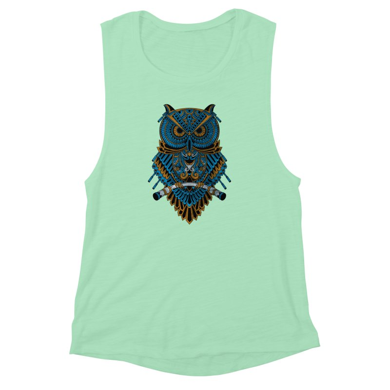Machinery Owl Women's Muscle Tank by MHYdesign
