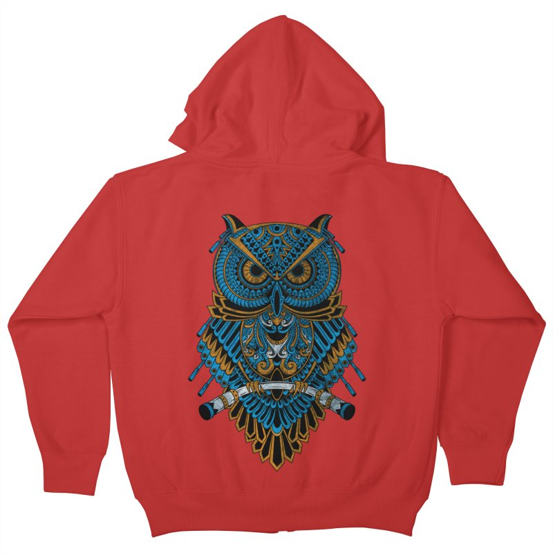 Machinery Owl Kids Zip-Up Hoody by MHYdesign