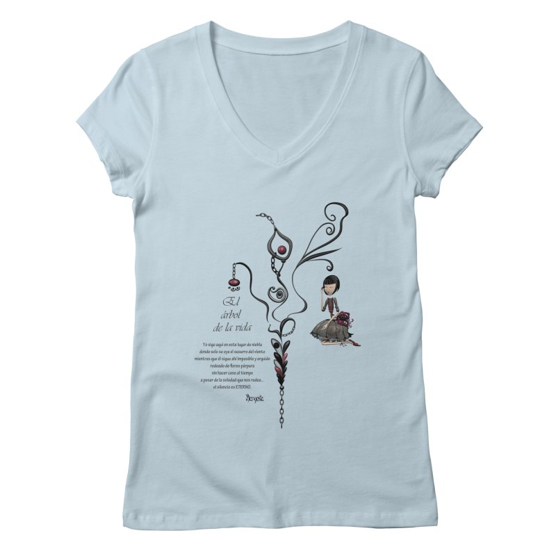 LIFE Women's V-Neck by mangosta's Artist Shop
