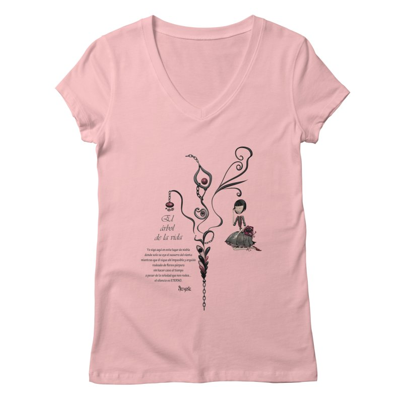 LIFE Women's V-Neck by mangosta's Artist Shop