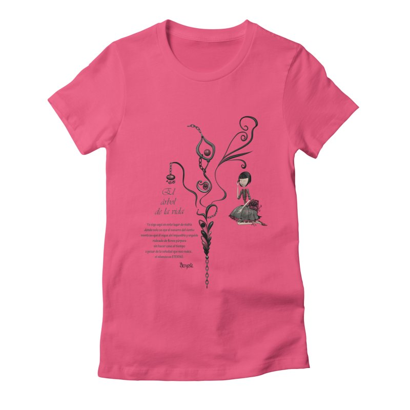 LIFE Women's Fitted T-Shirt by mangosta's Artist Shop
