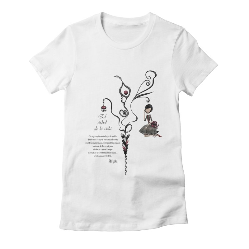 LIFE Women's Fitted T-Shirt by mangosta's Artist Shop