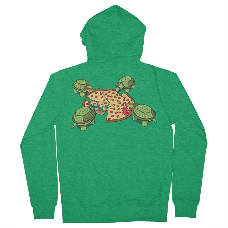 hungry hungry turtles ninja version Men's Zip-Up Hoody by manikx's Artist Shop