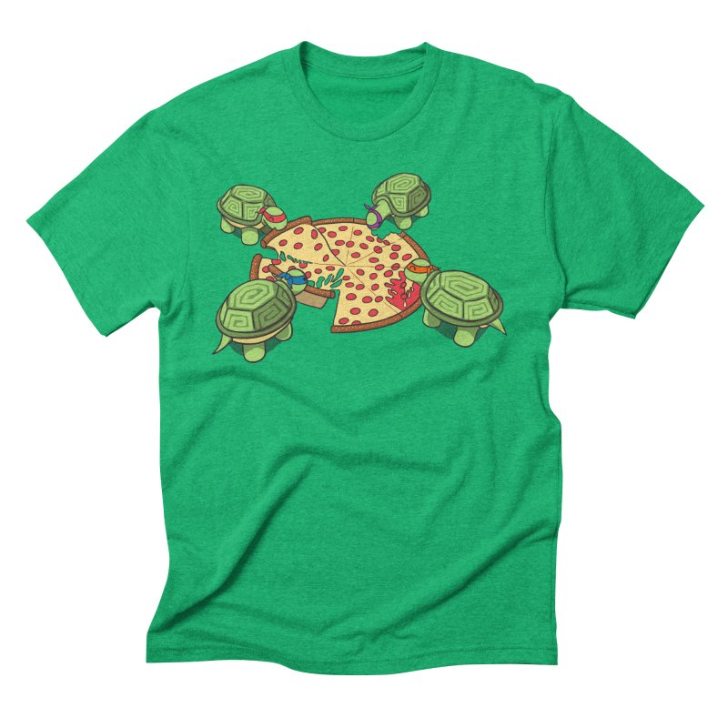 hungry hungry turtles ninja version Men's Triblend T-Shirt by manikx's Artist Shop
