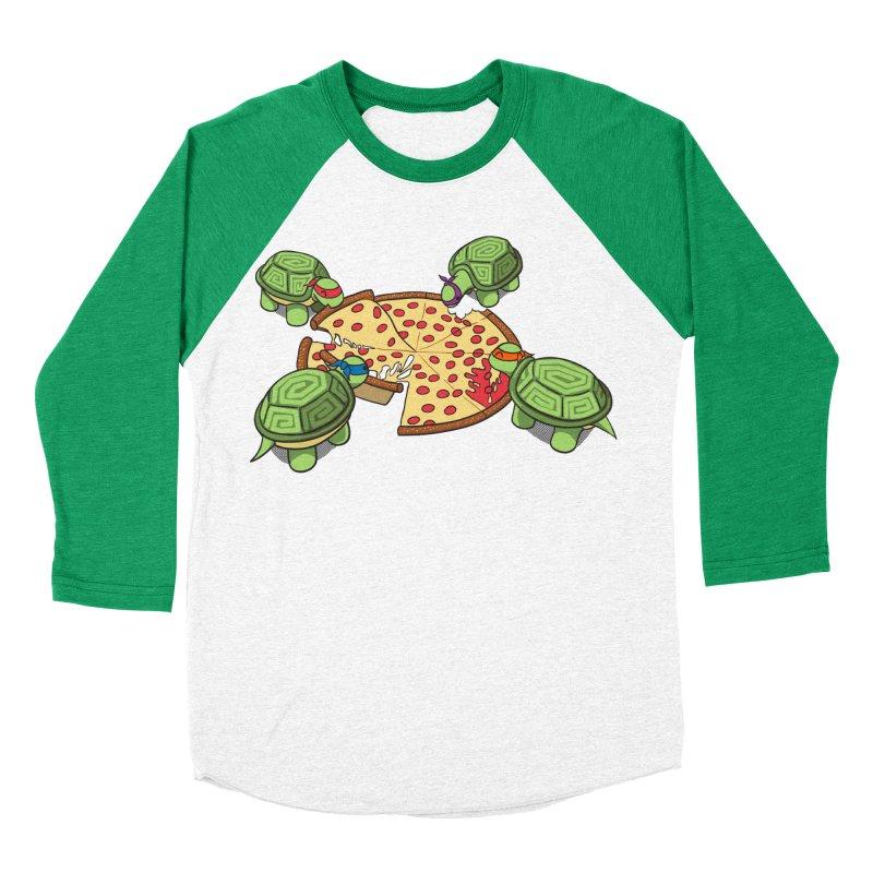 hungry hungry turtles ninja version Women's Baseball Triblend T-Shirt by manikx's Artist Shop