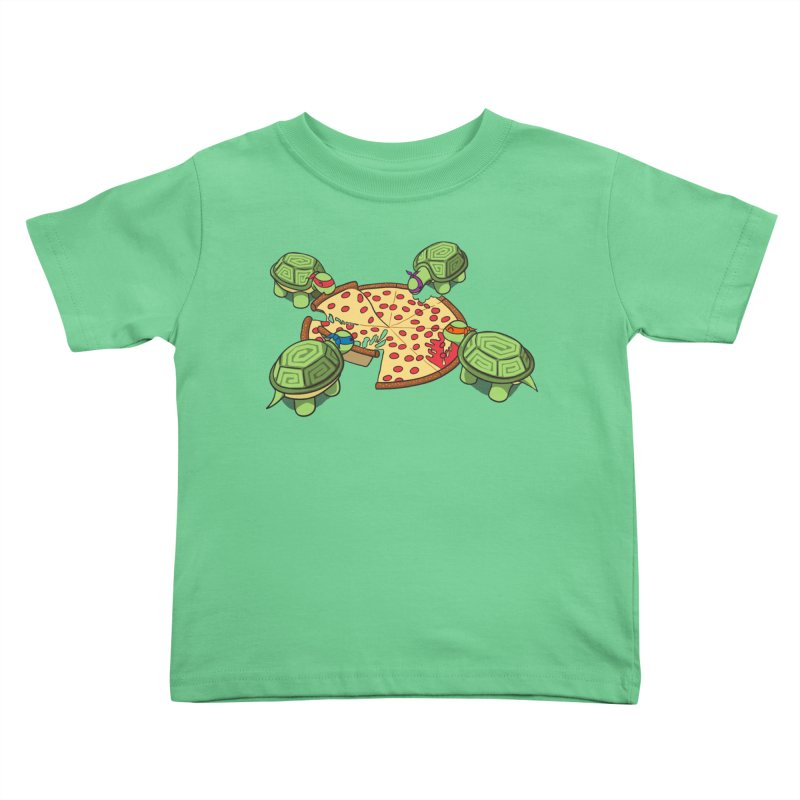 hungry hungry turtles ninja version Kids Toddler T-Shirt by manikx's Artist Shop
