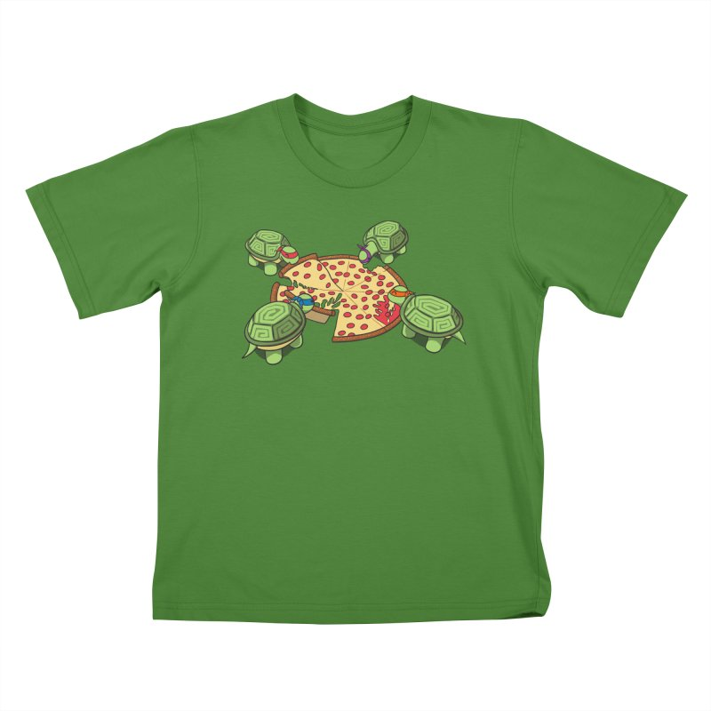 hungry hungry turtles ninja version Kids T-Shirt by manikx's Artist Shop