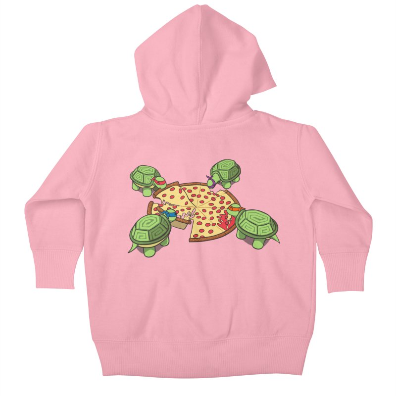 hungry hungry turtles ninja version Kids Baby Zip-Up Hoody by manikx's Artist Shop
