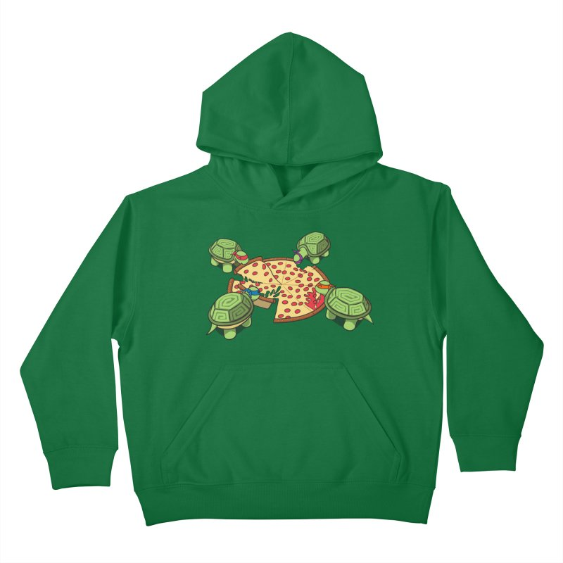 hungry hungry turtles ninja version Kids Pullover Hoody by manikx's Artist Shop