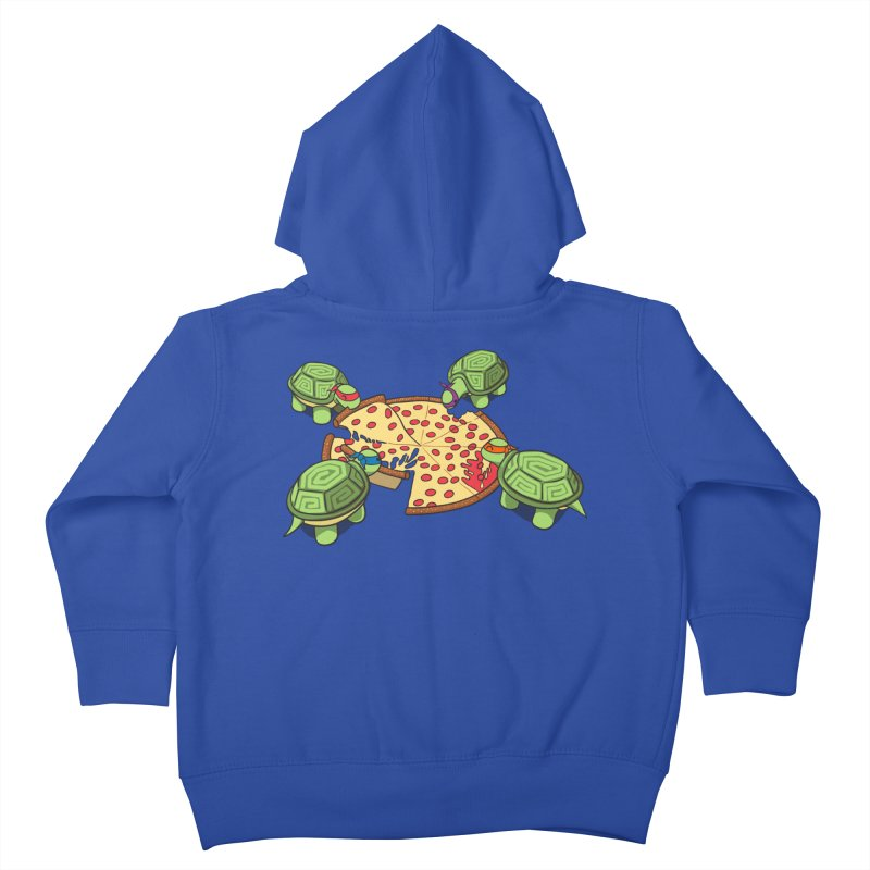 hungry hungry turtles ninja version Kids Toddler Zip-Up Hoody by manikx's Artist Shop