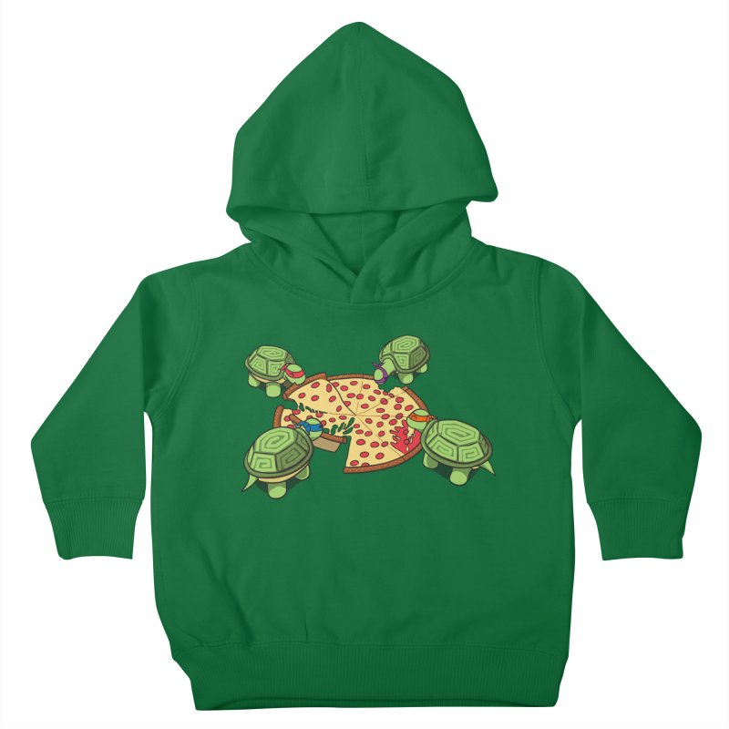 hungry hungry turtles ninja version Kids Toddler Pullover Hoody by manikx's Artist Shop
