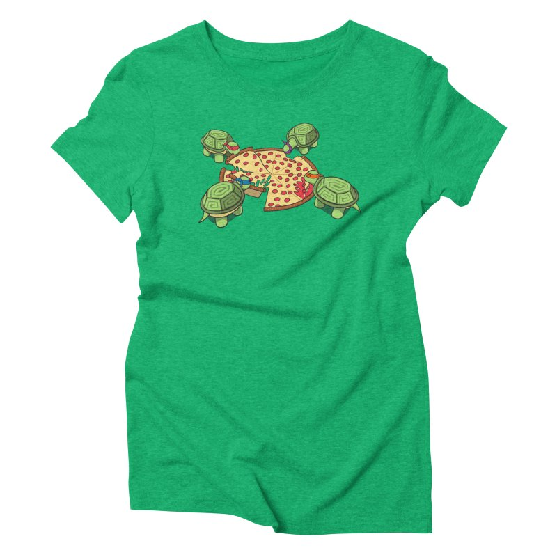 hungry hungry turtles ninja version Women's Triblend T-Shirt by manikx's Artist Shop
