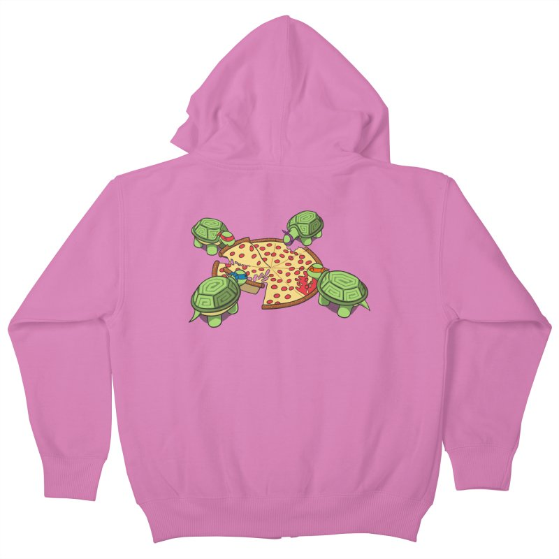 hungry hungry turtles ninja version Kids Zip-Up Hoody by manikx's Artist Shop