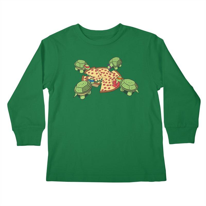 hungry hungry turtles ninja version Kids Longsleeve T-Shirt by manikx's Artist Shop