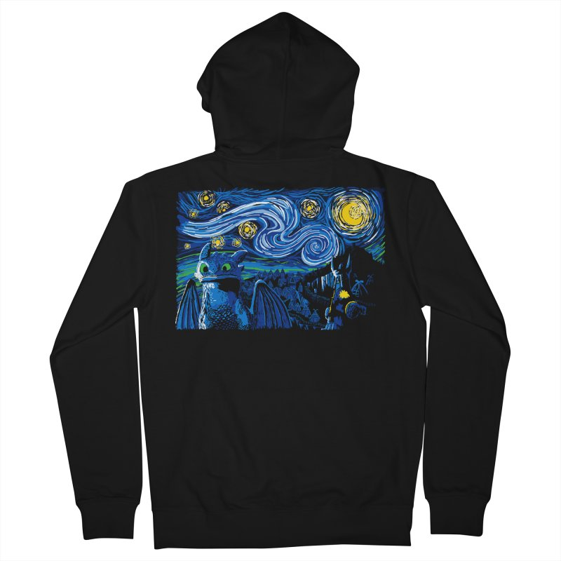 Starry Berk Men's Zip-Up Hoody by manikx's Artist Shop