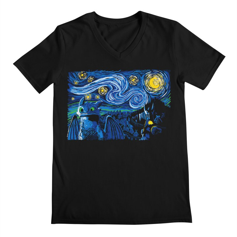 Starry Berk Men's V-Neck by manikx's Artist Shop