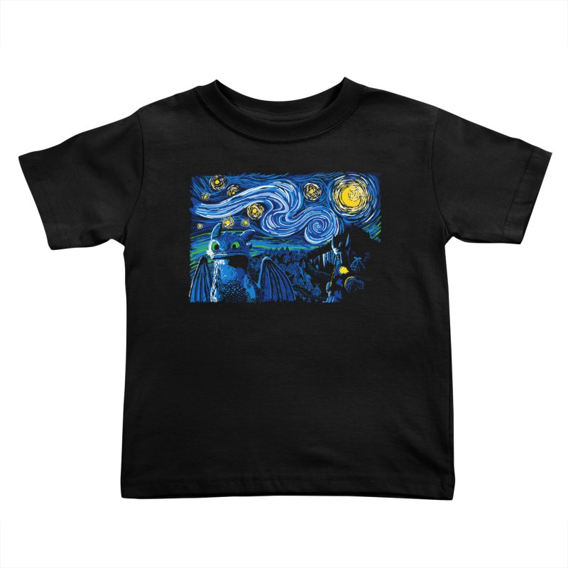 Starry Berk Kids Toddler T-Shirt by manikx's Artist Shop