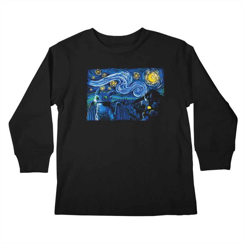Starry Berk Kids Longsleeve T-Shirt by manikx's Artist Shop