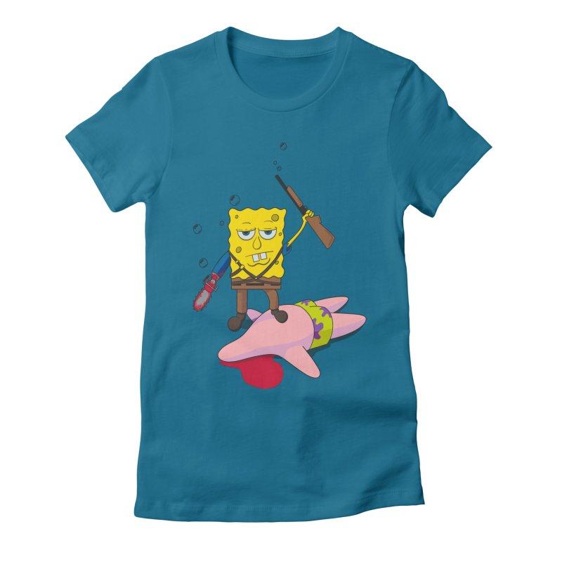 ash bob starfish hunter Women's Fitted T-Shirt by manikx's Artist Shop