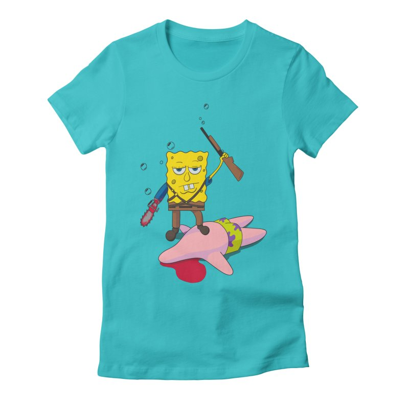 ash bob starfish hunter Women's Fitted T-Shirt by manikx's Artist Shop