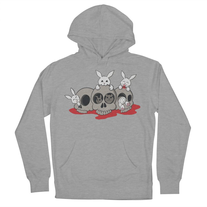 bunnies and skulls Women's Pullover Hoody by manikx's Artist Shop