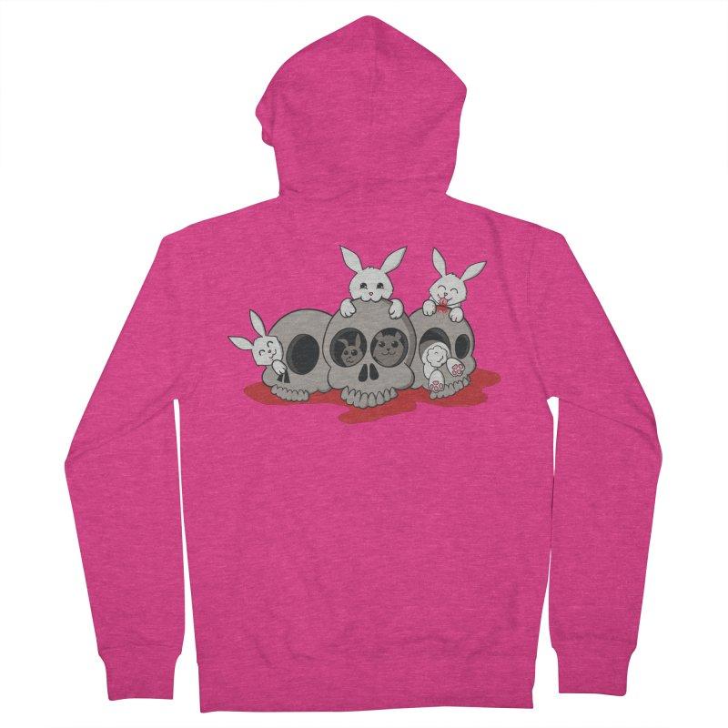 bunnies and skulls Women's Zip-Up Hoody by manikx's Artist Shop