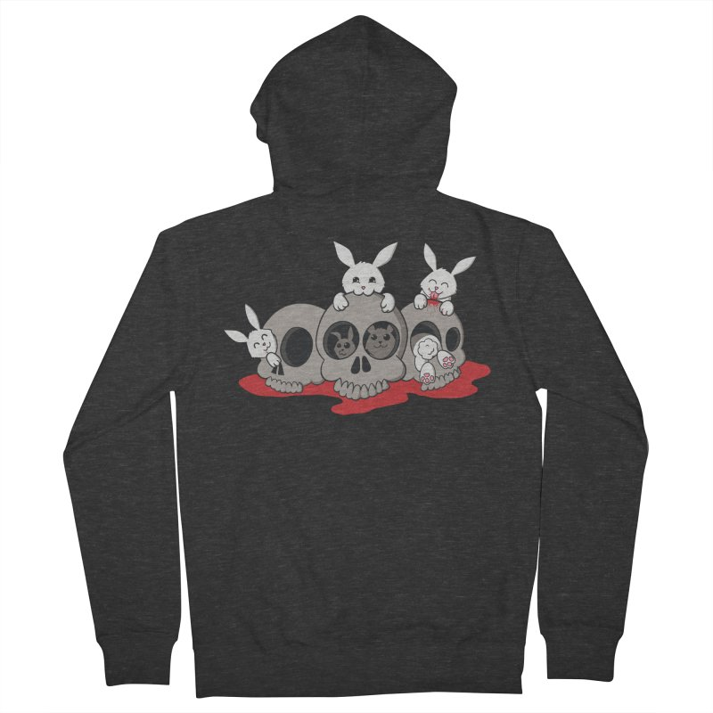 bunnies and skulls Men's Zip-Up Hoody by manikx's Artist Shop