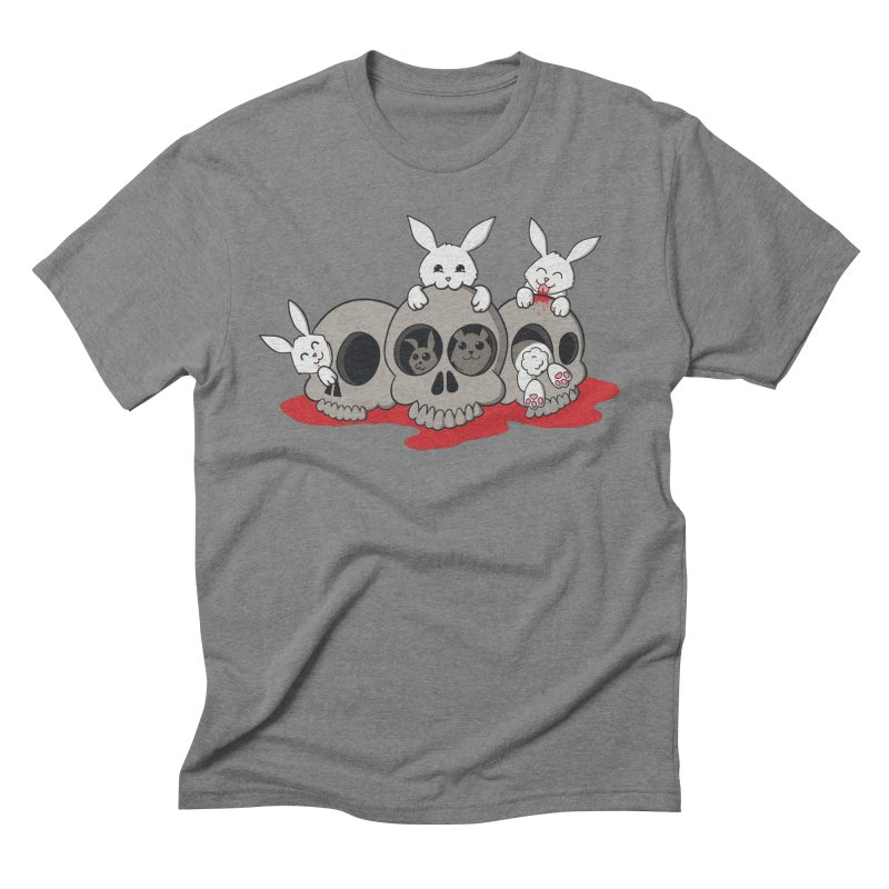 bunnies and skulls Men's Triblend T-Shirt by manikx's Artist Shop