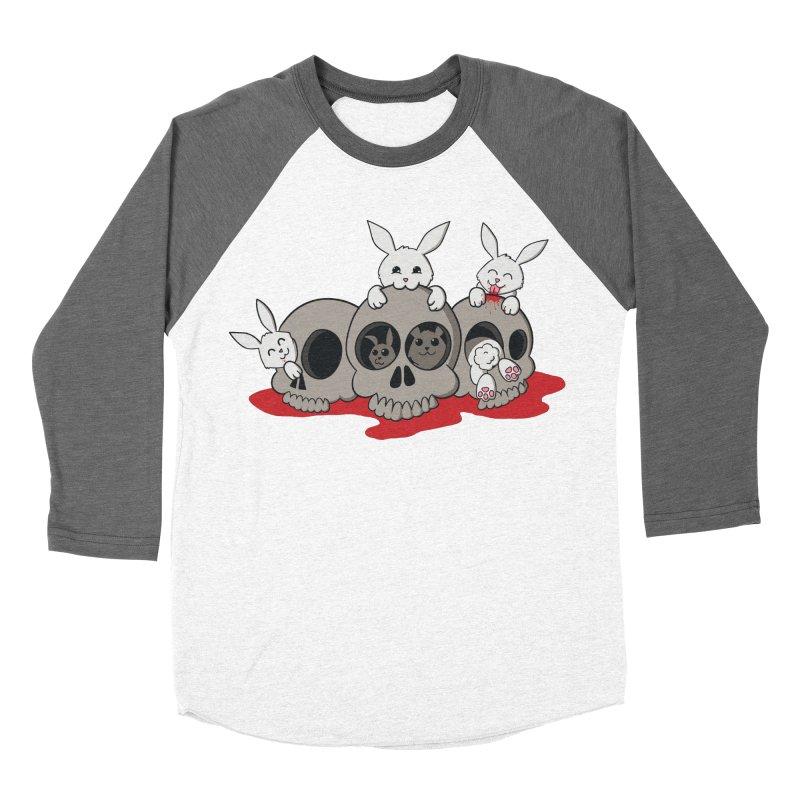 bunnies and skulls Men's Baseball Triblend T-Shirt by manikx's Artist Shop