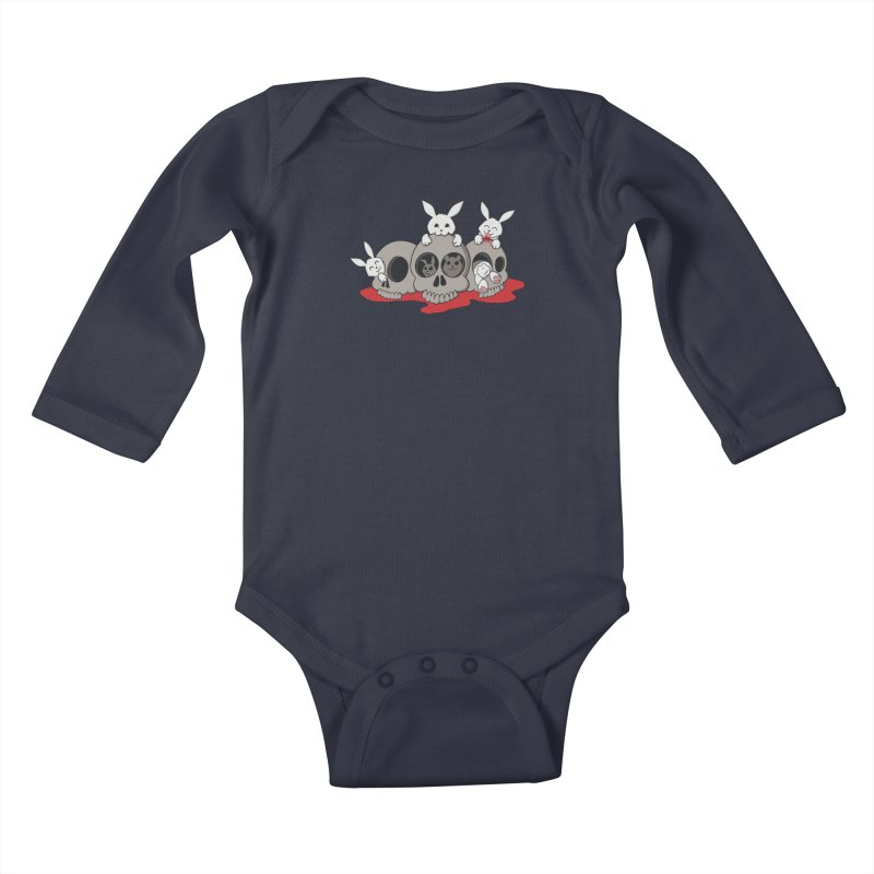 bunnies and skulls Kids Baby Longsleeve Bodysuit by manikx's Artist Shop