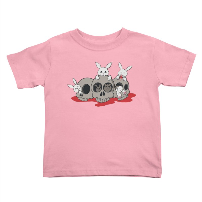 bunnies and skulls Kids Toddler T-Shirt by manikx's Artist Shop