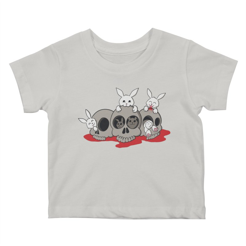 bunnies and skulls Kids Baby T-Shirt by manikx's Artist Shop