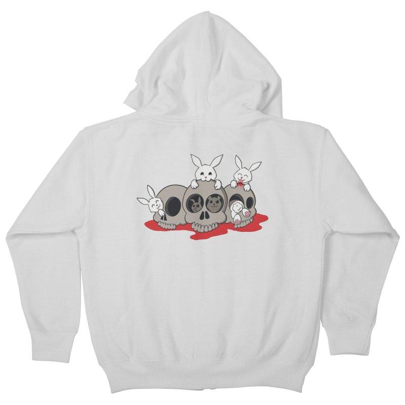 bunnies and skulls Kids Zip-Up Hoody by manikx's Artist Shop