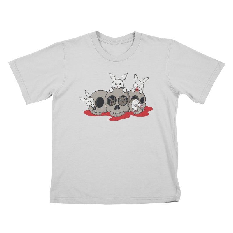 bunnies and skulls Kids T-Shirt by manikx's Artist Shop