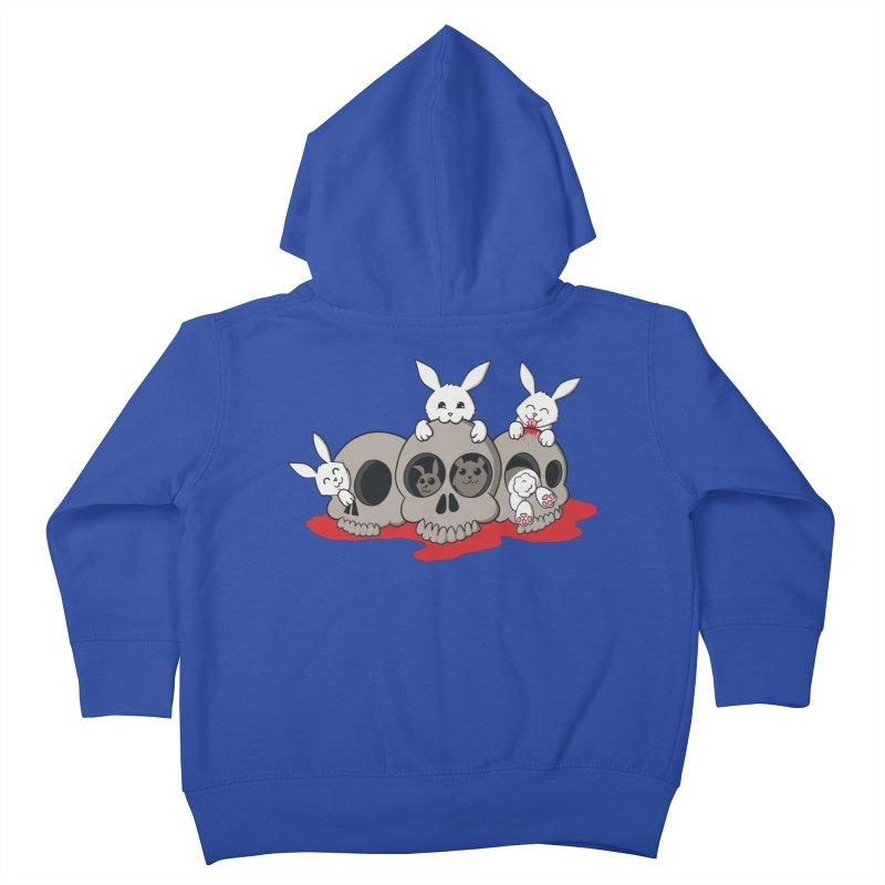 bunnies and skulls Kids Toddler Zip-Up Hoody by manikx's Artist Shop