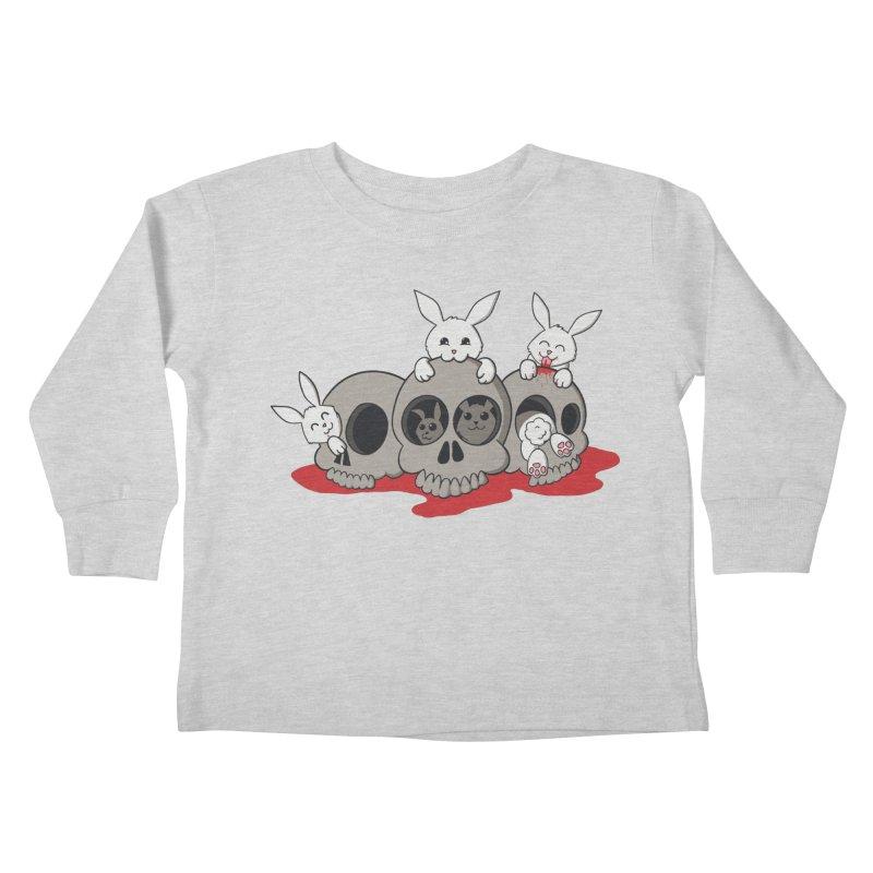 bunnies and skulls Kids Toddler Longsleeve T-Shirt by manikx's Artist Shop